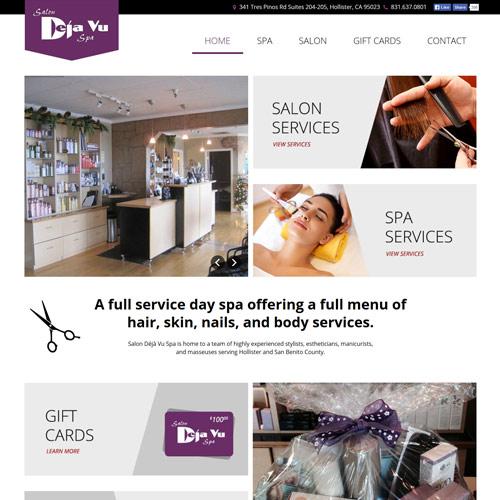 Salon deja vu spa launches new website salon deja vu spa for Salon de ja